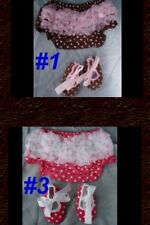 Bloomer Shoe Ruffle Baby Girl Polka Dot Zebra Infant Children Halloween Pink SET