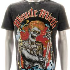 m337b Minute Mirth T-shirt Sz M L Tattoo Skull VTG Rock Star Punk Men Fashion