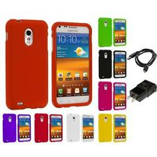 Hard Snap-On Case for Samsung Sprint Galaxy S2 S II Epic Touch 4G Charger