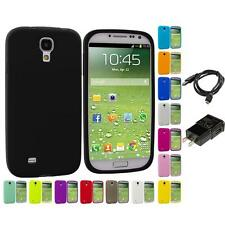Silicone Rubber Gel Soft Skin Case for Samsung Galaxy S4 S IV i9500 Charger