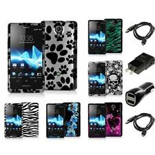 Design Hard Snap-On Case 2X Chargers for Sony Ericsson Xperia TL LT30at
