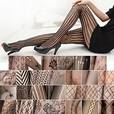 Fashion Sexy Black Fishnet Pattern Jacquard Stockings Pantyhose Tights