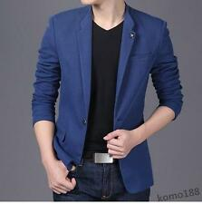 Stylish mens slim fit one button casual dress suit blazer coat jacket outwear
