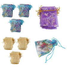 100x Organza Gift Bags Jewellery Christmas Presents Pouches Wedding Party Decor