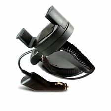 360° MINI CAR MOUNT WINDSCREEN HOLDER CRADLE+CHARGER FOR LATEST MOBILE PHONES