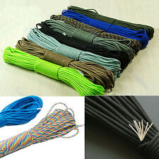 Durable 550 Paracord Parachute Cord Lanyard Mil Spec Type 7 Strand Core100FT