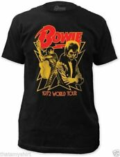T-Shirts Sizes S-2XL New Authentic Mens David Bowie 1972 World Tour Tee Shirt