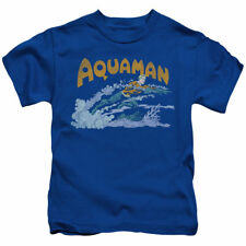 T-Shirts Sizes Boys 4-Youth XL New Authentic Aquaman Aqua Swim Kids Tee Shirt