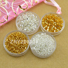 2mm/4mm Czech Glass Seed Spacer Beads Jewelry Making Silver/Gold R0082