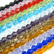 6mm Bicone Faceted Crystal Glass Spacer Beads 21Color-1 Or Mixed R0087