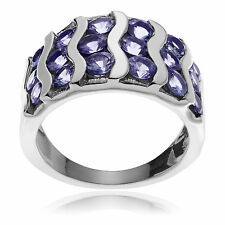 Journee Collection Sterling Silver Round-cut Tanzanite Ring