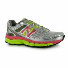 New Balance W860v4 Running Shoes Womens Silver/Pink/Yellow Trainers Sneakers