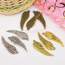 20Pcs Antiqued Silver,Gold,Broze Wing Charm Pendants Double-sided M1120