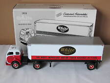 New In Box First Gear 1953 White 3000 Tractor & 30' Trailer White Motor Company