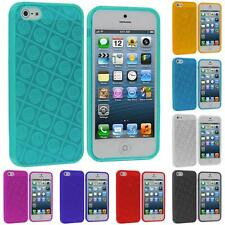 Color TPU Happy Face Smiley Rubber Jelly Skin Case Cover for iPhone 5 5G 5S