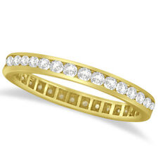 14k Gold 1.00ct Channel Set Diamond Eternity Ring Band (G-H, SI1-SI2)