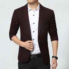Men's Slim Fit One Button Suit Lapel Stylish Dress Casual Blazer Coat Jackets