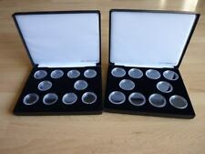 Deluxe black sovereign hard cases with capsules for 10 full or half gold sovs