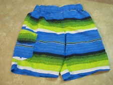 COLUMBIA Omni-Shade UPF SWIM SUIT TRUNKS SHORTS Green/Blue MESH REMOVED sz S/8