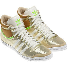 Adidas Top Ten Hi Sleek W Shoes Trainers Size. 36-42 Gold Women's Leather