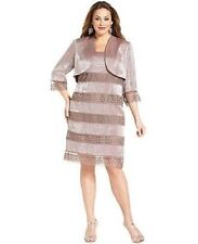 SL Fashions NEW Shimmer Jacket Dress Formal Cocktail Mother of Bride 16w 18w NWT