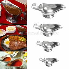 3~10oz Thicken Stainless Steel Gravy Sauce Boats Juice for Western Dishes Steak