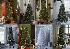TRADITIONAL, CHRISTMAS TREES, Evergreen, Luxury Snow Flock, Slim,& Topiary Trees