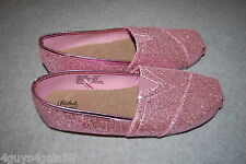 Womens Shoes PINK GLITTER SPARKLE Flats CASUAL Dressy 7 8 9 10 ESPADRILLES