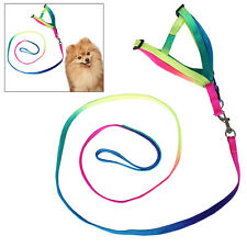 Colorful Pet Dog Puppy Cat Kitten Lead Leash Harness Adjustable Rope Strap Nylon