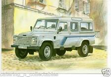 gp107 Defender 110 County Station W Land rover Postcard