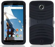 BLACK & BLACK U-Case Hybrid Cover Case for Motorola Nexus 6 / Google Nexus X