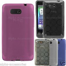 Soft Silicone Rubber Gel Circle TPU Glossy Case Cover Pouch Skin For HTC HD Mini