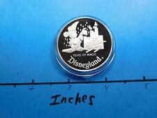 DISNEY MICKEY MOUSE DISNEYLAND 35TH ANNIVERSARY 1990 VINTAGE 999 SILVER COIN