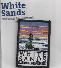 SOUVENIR PATCH - WHITE SANDS NATIONAL MONUMENT, NEW MEXICO