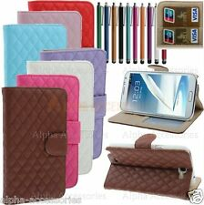 Luxury Leather Wallet Stand Case Cover Skin For Samsung Galaxy Note 2 II N7100