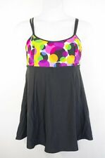NEW Black Swimsuit Swimdress Empire Waist Cruise Vacation Womens Plus 16w 26w
