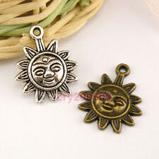 15Pcs Tibetan Silver,Antiqued Bronze, Face SunFlower Charms Pendants M1479
