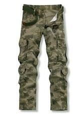 Mens outdoor military work camo overalls loose casual pants trousers 28-38 new