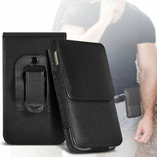Premium PU Leather Belt Pouch Holster Case Cover For Blackberry Q20 Classic