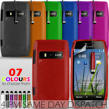 GEL SKIN CASE COVER,SCREEN PROTECTOR & MINI STYLUS PEN FOR NOKIA X7