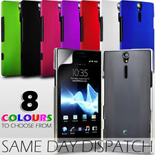 HARD BACK CASE COVER & SCREEN PROTECTOR FOR SONY XPERIA S LT26I