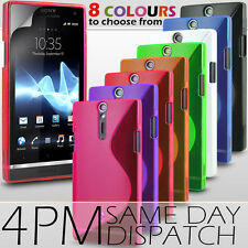 S LINE WAVE GEL SKIN CASE & SCREEN PROTECTOR FOR SONY XPERIA S LT26I