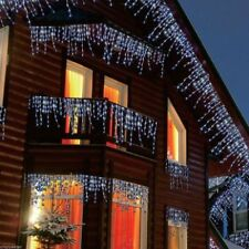 480, 720, 960 White Blue Indoor and Outdoor Christmas Icicle LED Lights