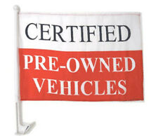Certified Pre-Owned Vehicles Clip On Car Window Flags Priced / Dozen