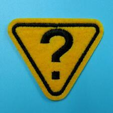 1 Question Warning Triangle Iron on Sew Patch Applique Badge Embroidered Biker