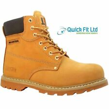 MENS WALKLANDER LEATHER SAFETY BOOTS STEEL TOE CAP TRAINERS HIKING SIZES 6-13 UK
