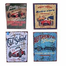 Hanging Wall Art Decorative Wooden Sign Retro Classic Racing Car Designs