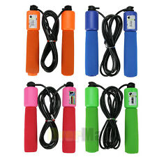 2.6m Handle Skipping Jump Rope with Counter Number for Exercise Workout 4 Color