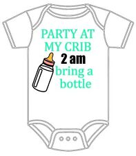 PERSONALIZED CUSTOM-MADE BABY BOY / GIRL PARTY BRING A BOTTLE GERBER ONESIE GIFT
