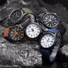 OUTDOOR MENS DATE STAINLESS STEEL MILITARY SPORTS ANALOG QUARTZ ARMY WRIST WATCH